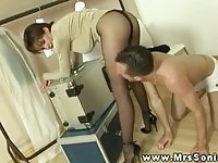 Naughty Lady Sonia gets licked